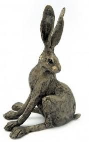 Would love this bronze hare sculpture to adorn my bookcases. This would look great in a library. We can dream...