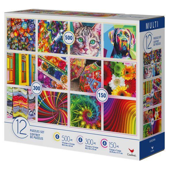 Cardinal Colorful Mix Puzzle Set 12pk In 2021 Puzzle Set 300 Piece Puzzles 500 Piece Puzzles