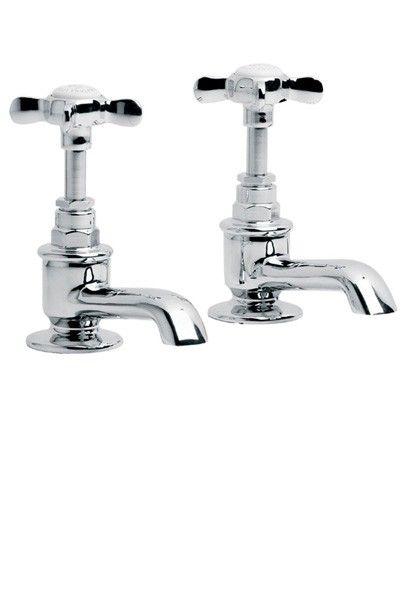 Lefroy Brooks Classic basin pillar taps (pair) LB1422