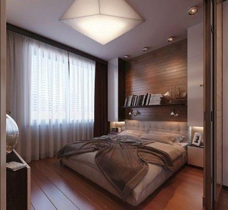 Дизайн маленькой спальни - 32 фото #дизайн #интерьер #маленькаяспальня #фото #дизайнинтерьера