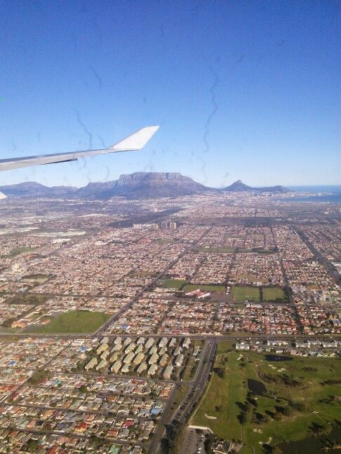 Coming in to land at Cape Town International.