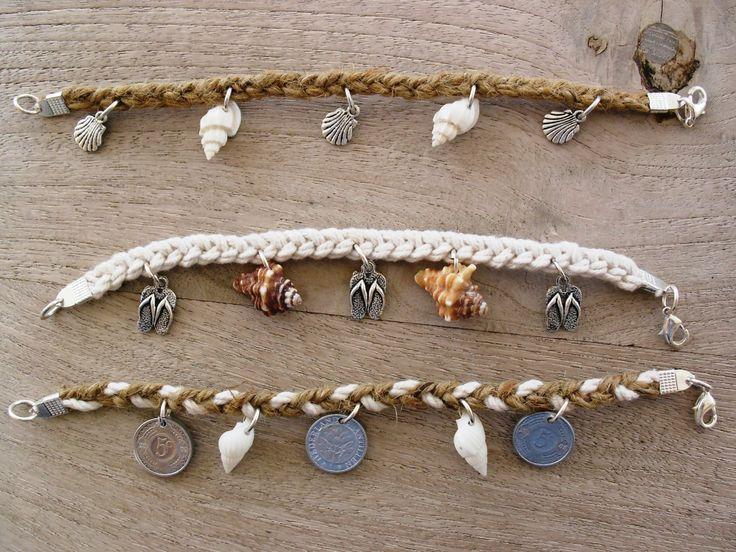 Coastal bracelets, seashells