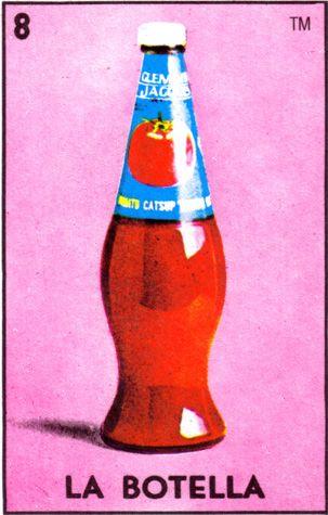 loteria, mexican, bottle, la botella - Loteria Mexicana - Mexican Bingo