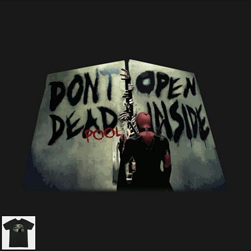 "Don't open man don't open! -> ""Don't open. Deadpool inside"" designed by @burgurhead1812 <- #superheroes #tvseries #todayisateeday"