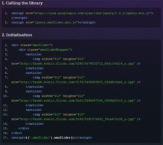 Incredible jQuery Responsive slider – wmuSlider