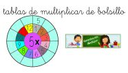 Tablas de multiplicar de bolsillo 1-5 listas para colorear recortar y trabajar