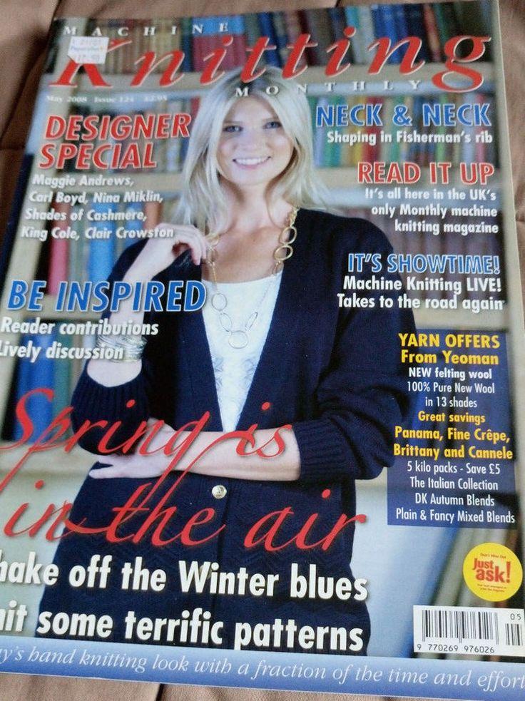 Machine Knitting Monthly magazine May 2008 Issue 124