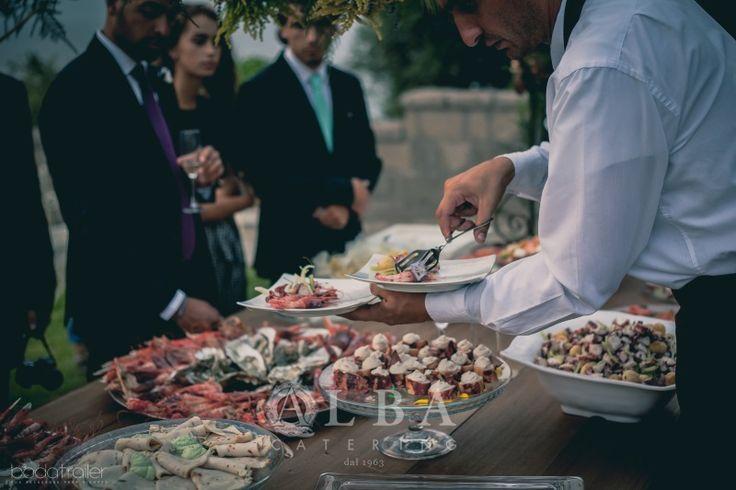 """Buffet di pesce per un matrimonio da sogno in stile """"nature"""" a Villa Angelina"""