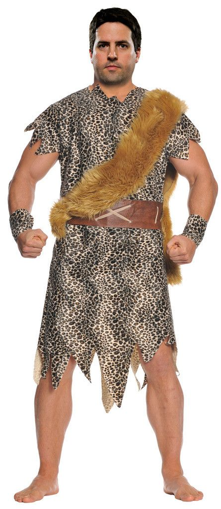 Cave Dweller Adult Plus Costume Contains (1) The Cave Dweller Plus Size Cave Man Costume which includes tunic, faux fur sash, arm cuffs, and belt. Weight (lbs) 1.3 Length (inches) 15 Width (inches) 12