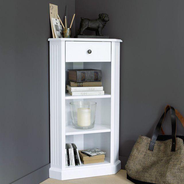 Stunning encoignure laqu blanc authentic style redoute - La redoute meubles authentic style ...