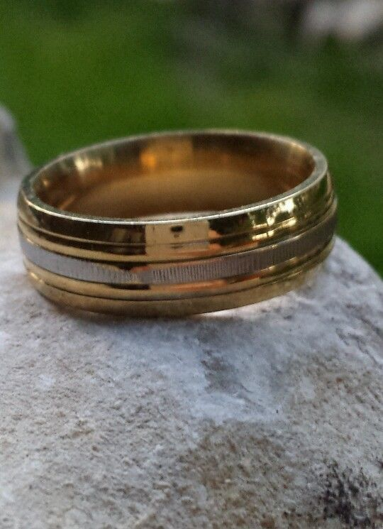 18k Yellow Gold Filled 6mm Unisex Wedding Band or Anniversary Band Size 7 US #Band