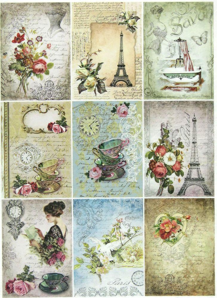 Ricepaper/Decoupage paper,Scrapbooking Sheets /Craft Paper Parisian Life in Crafts, Cardmaking & Scrapbooking, Decoupage | eBay