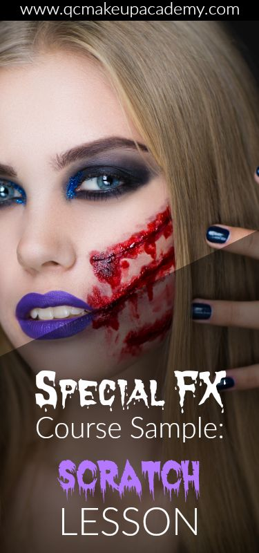 Want to become a special effects makeup artist? QC Makeup Academy will show you how with our online Special FX Makeup course! Learn how to fake scratches with this sneak peek tutorial - right from the course! #makeuptutorial #sfxmakeup