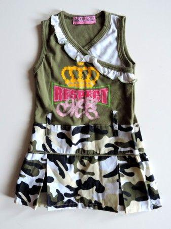 Terepmintás vagány lányka ruha (92)
