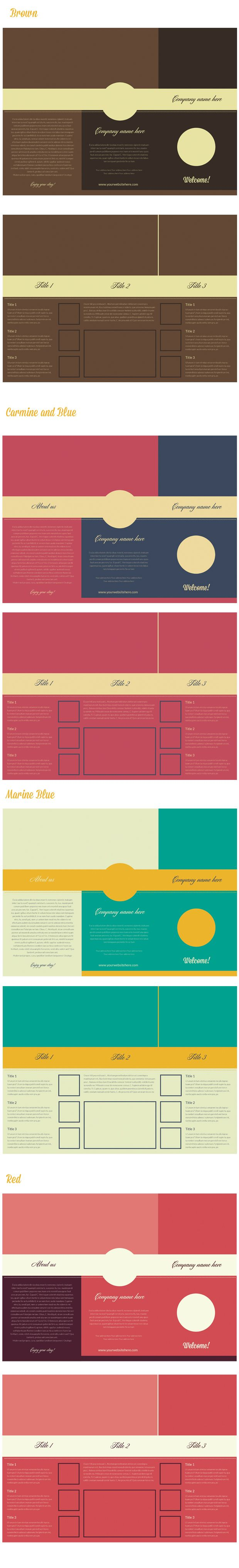 6 page leaflet template