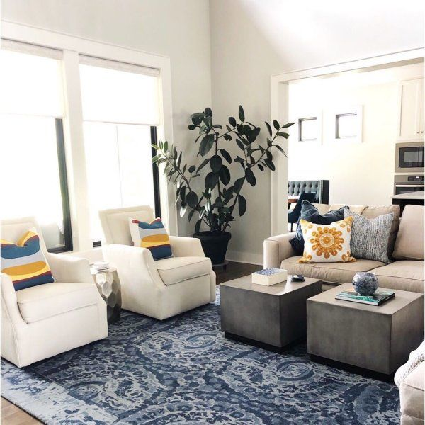 Byron Square Coffee Table Pottery Barn Blue Rugs Living Room