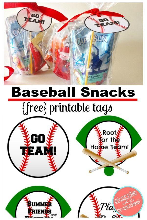 image relating to Free Printable Baseball Tags titled How toward Create Printable Tags for Baseball Snack Luggage All