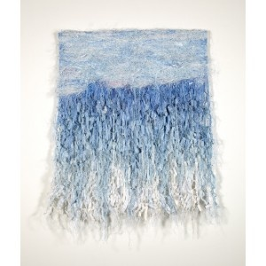 Uncharted Waters woven tapestry by Fiona Hutchison