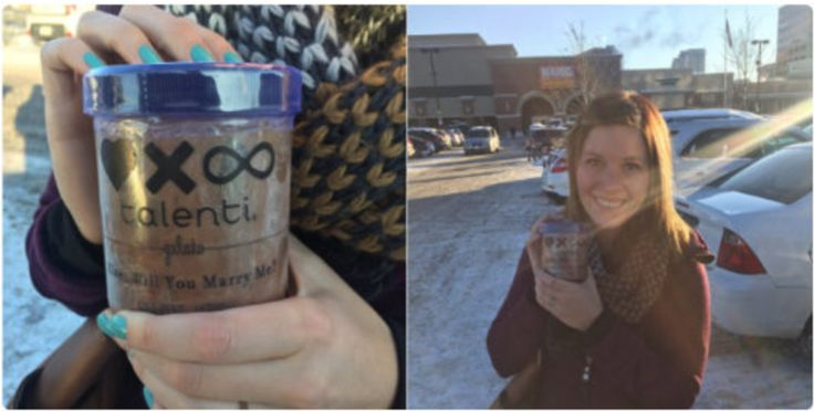 Boyfriend Proposes Girlfriend With Custom Made Gelato Because...
