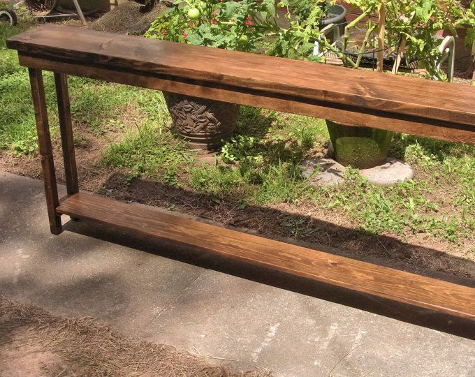 60 Inch Rustic Console Table Extra Narrow Sofa Table ...
