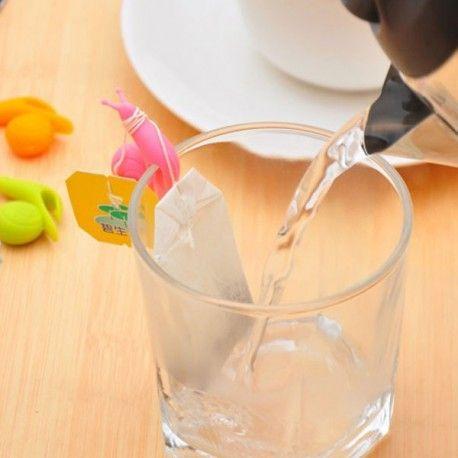 Houder voor theezakjes | Glas label | Clip voor theezakje