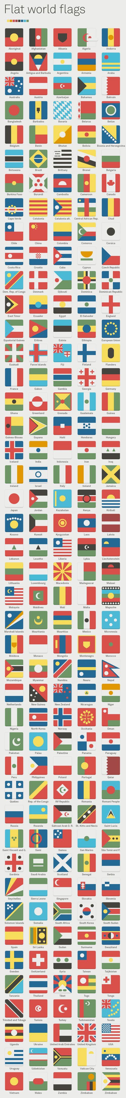 Flat world flags by Albert Casado