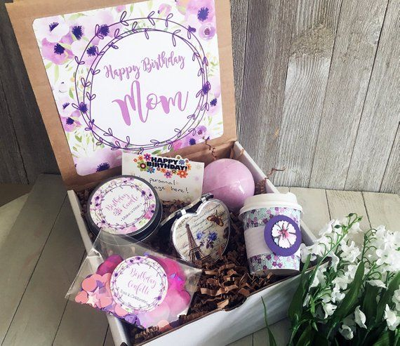 Happy Birthday Gift Box Birthday In A Box Mom Gift Friend Birthday Care Packages Happy Birthday Gifts Mother Birthday Gifts