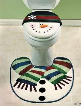 Snow Man Toilets - #Christmas #Decor #Holidays