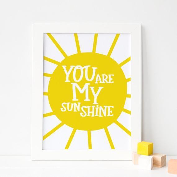 You Are My Sunshine Printable Quotes,Digital Print,Digital Download,Modern Decor Printable Wall Art Prints Instant Download Printable Art