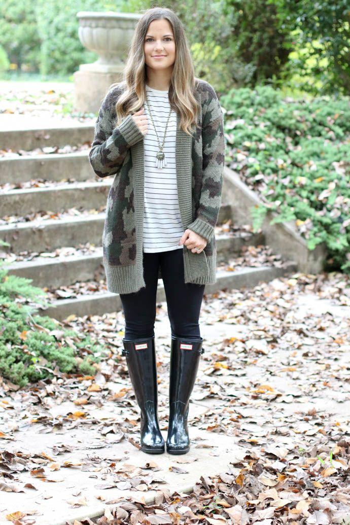 camo cardigan, hunter boots, zella leggings, fall fashion, casual fall outfit, fall outfit 2017, the girlish blog, girl(ish), amanda sumner