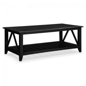Black Beadboard Coffee Table