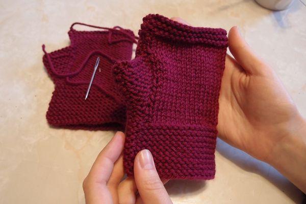 guanti senza dita - spiegazioni in italiano - la maglia di marica