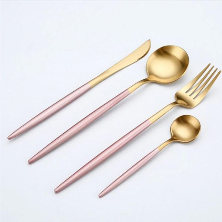 Luxury Gold or Silver Cutlery Set