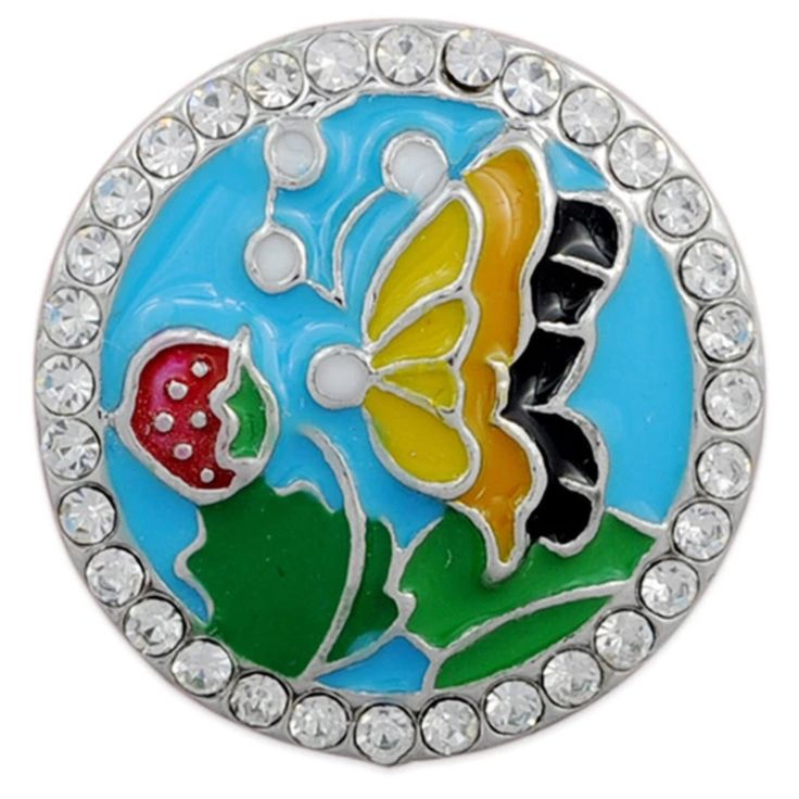 Summer Butterfly 18 mm snap to fit all 18 mm snap jewelry and accessories is now available at www.shugasnap.ca