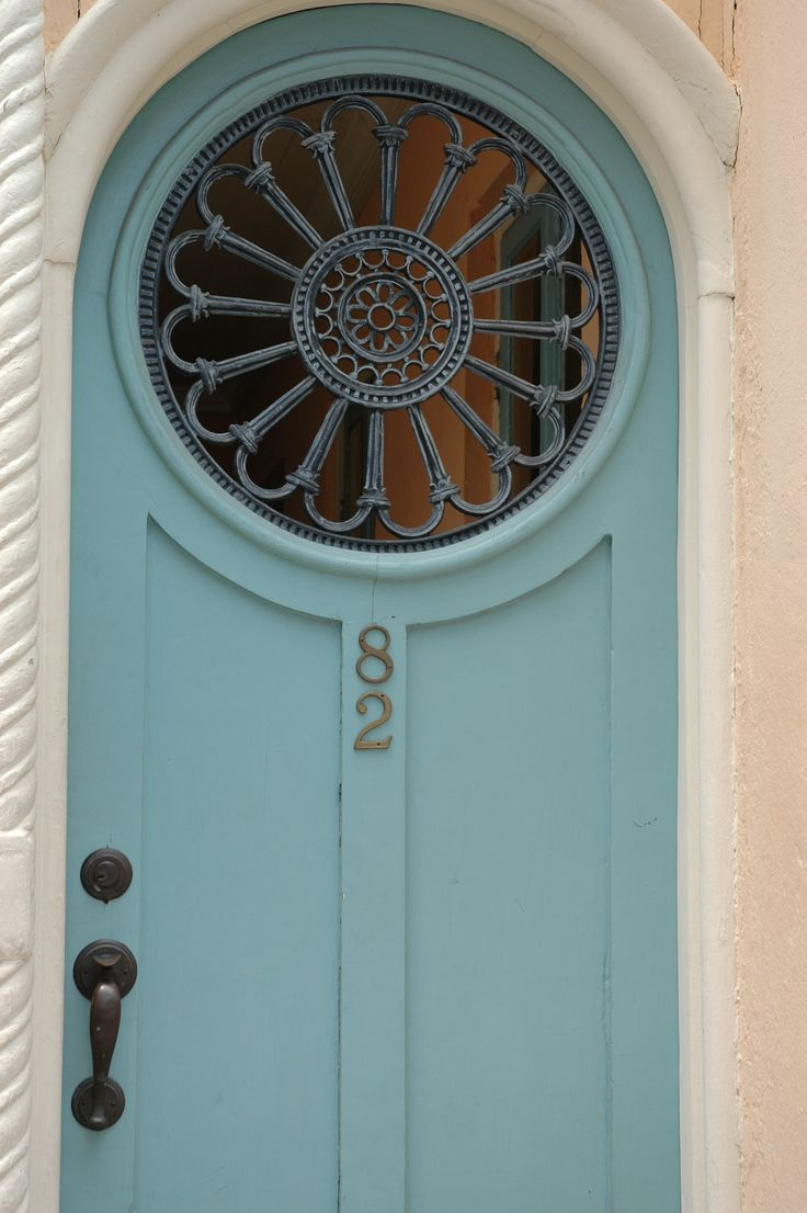 Charleston door - Love the paint Blue Color!