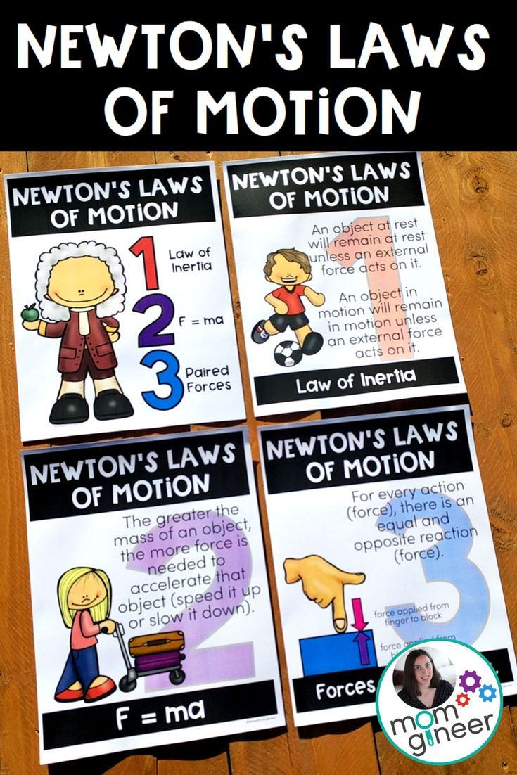 newtons laws Newton's third law the skaters' forces on each other are equal in magnitude, and in opposite directions for every action, there is an equal and opposite reaction.