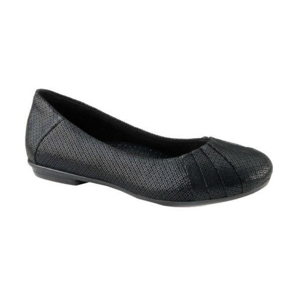 Women's Earth Bellwether ($95) ❤ liked on Polyvore featuring shoes, flats, ballet flats, black, casual, round toe ballet flats, ballerina flats, black ballerina flats, black ballet shoes and black evening shoes