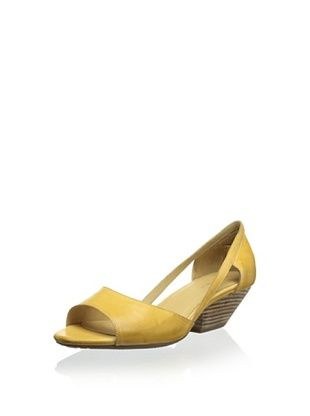 44% OFF Chocolat Blu Women's Grove Open-Toe Demi Wedge Sandal (Mustard)
