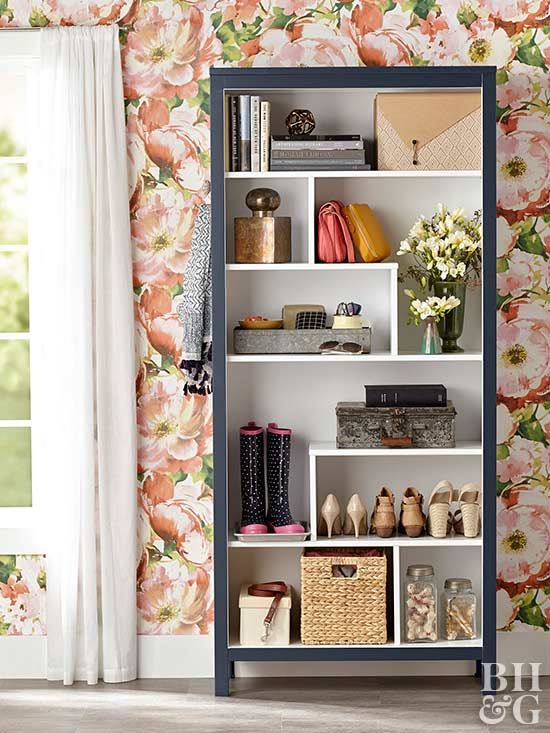 Craft a stylish entryway catchall to collect boots, bags, and dog leashes for grab-and-go ease.