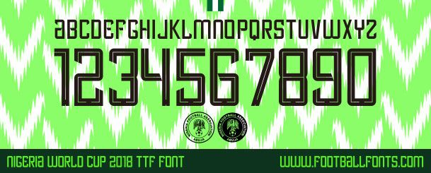 Nigeria 2018 Font for World Cup 2018 (TTF) | Football Fonts