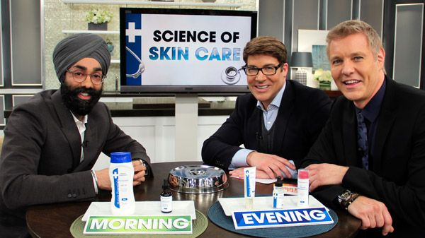 Dr. Davindra Singh stopped by to teach us the science behind good skin care. http://www.cbc.ca/stevenandchris/2012/11/science-of-skin-care.html