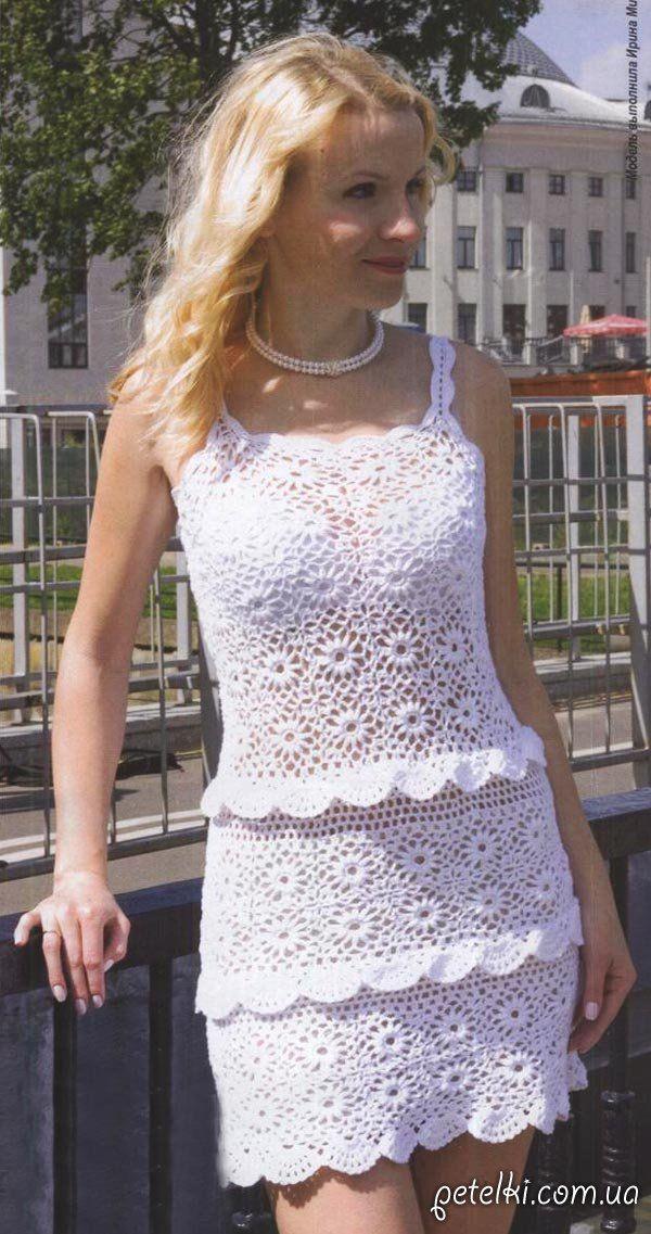 Платье цветочных мотивах схема