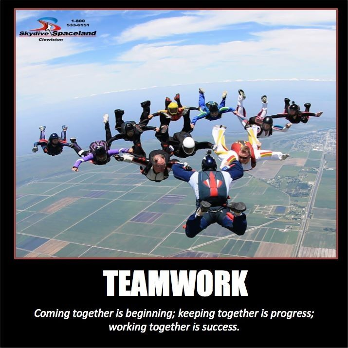 Inspirational Quotes Skydive Teamwork