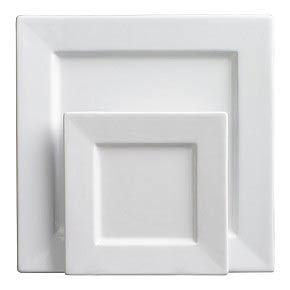 Square white plates by 10 Strawberry Street