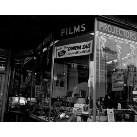 USA Massachusetts Boston camera shop window display Canvas Art - (18 x 24)