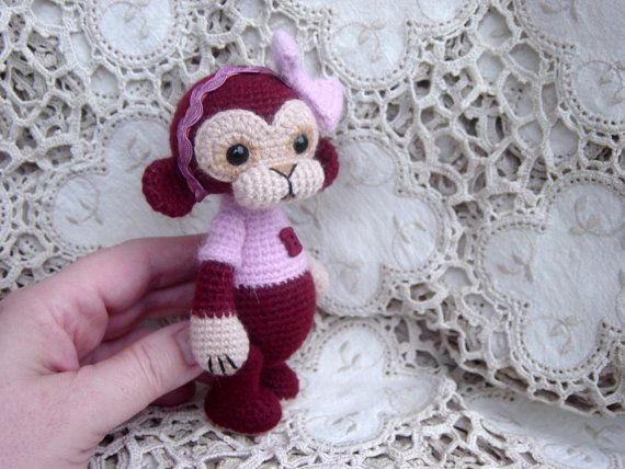 Artist Bear OOAK Crocheted Thread Teddy от CrochetTeddyBears
