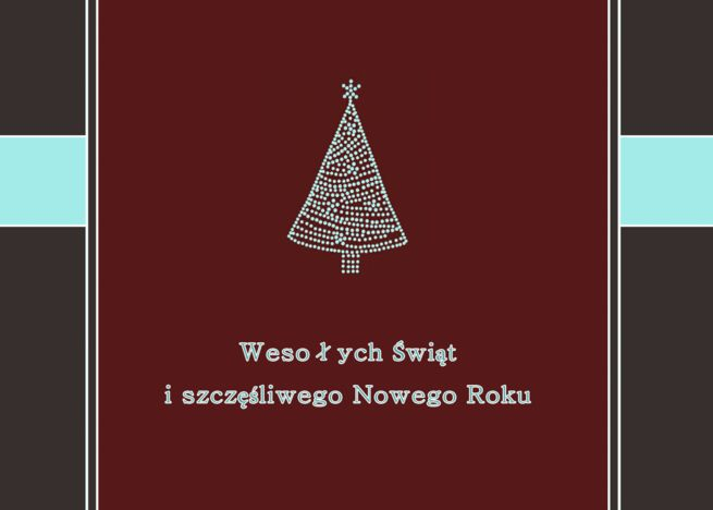Merry Christmas Happy New Year In Polish Weso Ych Wi T Card Ad Ad Happy Year Merry Christmas