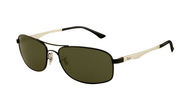 R-B RB8301 Tech Sunglasses Gunmetal Frame Green