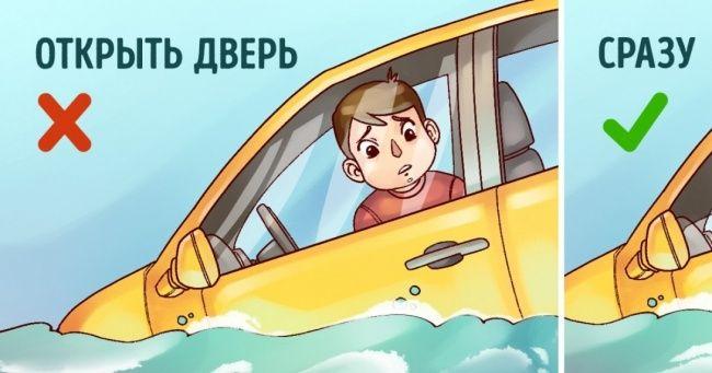 Как выбраться живым изтонущей машины
