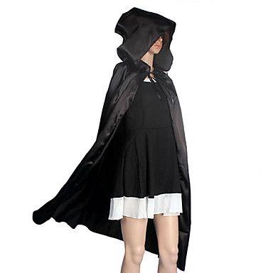 Cosplay Kostuums / Mantel / Hallloween figuren / Feestkostuum / Gemaskerd Bal Tovenaar/Heks / Engel en Duivel / Spook Film Cosplay Zwart – EUR € 6.58